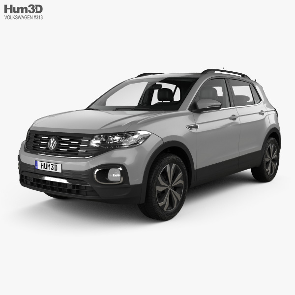 3D model of Volkswagen T-Cross Highline with HQ interior 2019