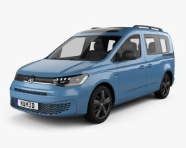 3D model of Volkswagen Caddy Life 2020