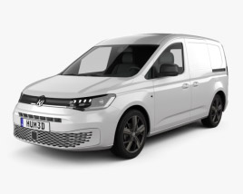3D model of Volkswagen Caddy Panel Van 2020
