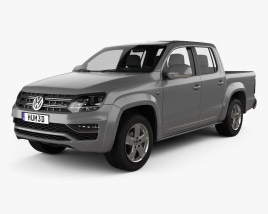 3D model of Volkswagen Amarok Crew Cab 2016