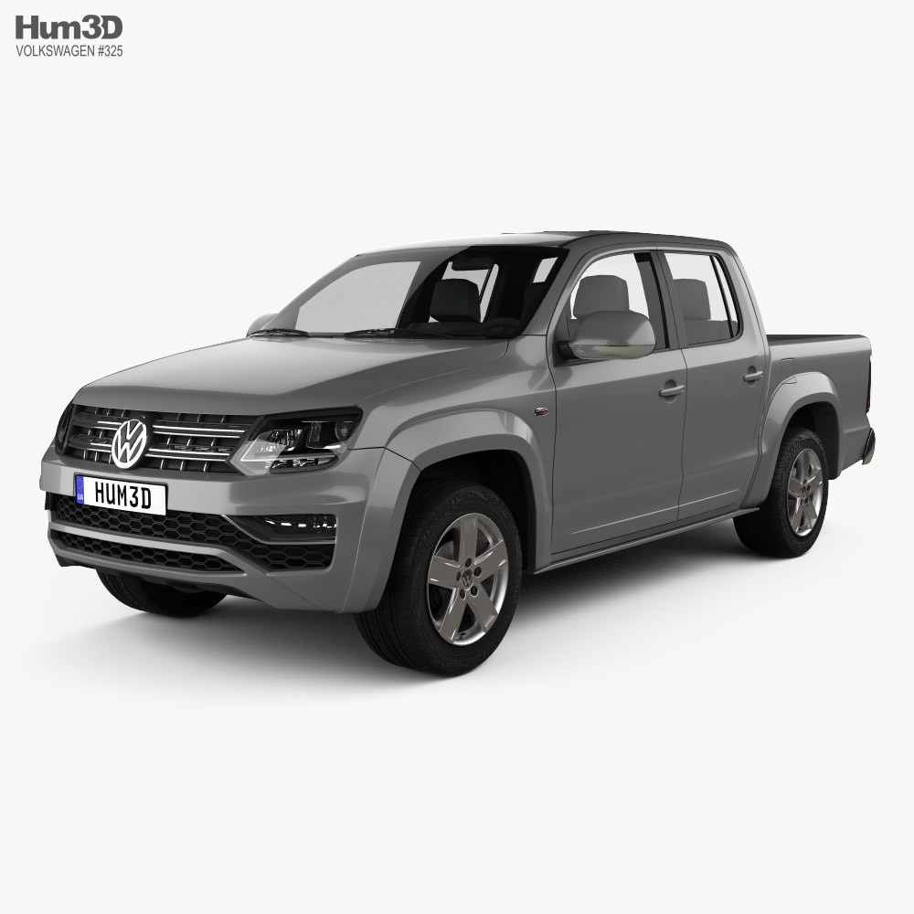 3D model of Volkswagen Amarok Crew Cab 2016