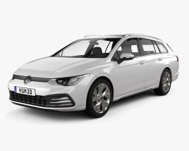 3D model of Volkswagen Golf variant 2020