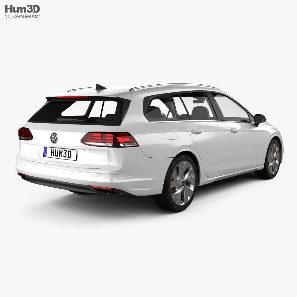 Volkswagen Golf variant 2020 3d model