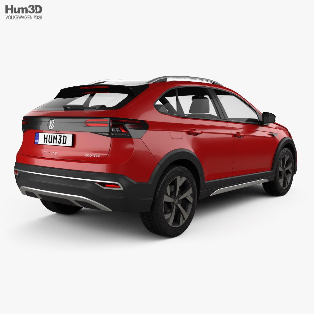 Volkswagen Nivus BR-spec 2021 3d model back view
