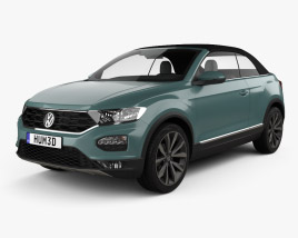 3D model of Volkswagen T-Roc cabriolet 2020