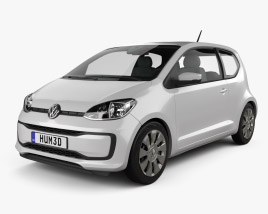 3D model of Volkswagen Up 3-door 2016