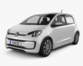 3D model of Volkswagen Up 5-door 2016