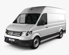 3D model of Volkswagen E-Crafter Panel Van L1H2 2017