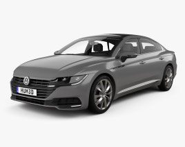 3D model of Volkswagen Arteon Elegance with HQ interior 2017
