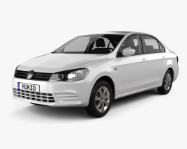 3D model of Volkswagen Jetta CN-specs with HQ interior 2013