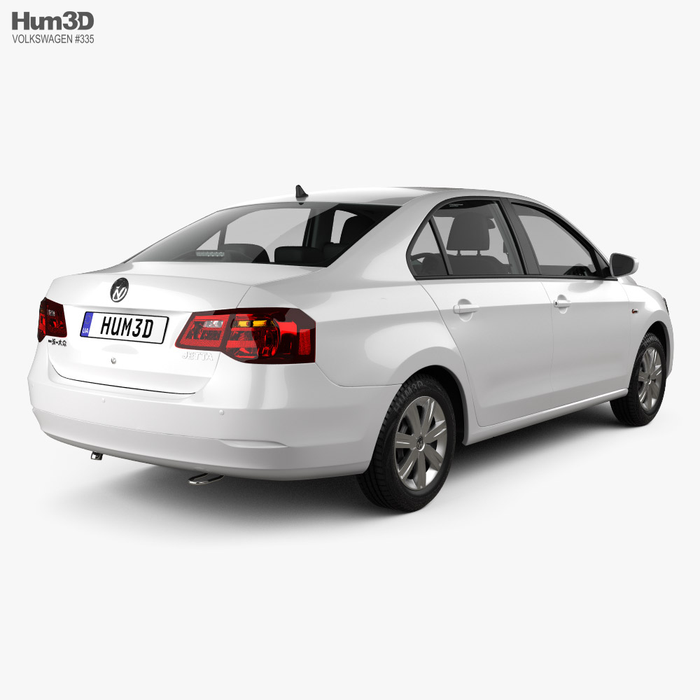 Volkswagen Jetta CN-specs with HQ interior 2013 3d model