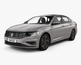 3D model of Volkswagen Sagitar 2019