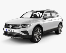 3D model of Volkswagen Tiguan eHybrid 2020