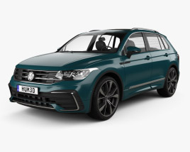 3D model of Volkswagen Tiguan R-Line 2020