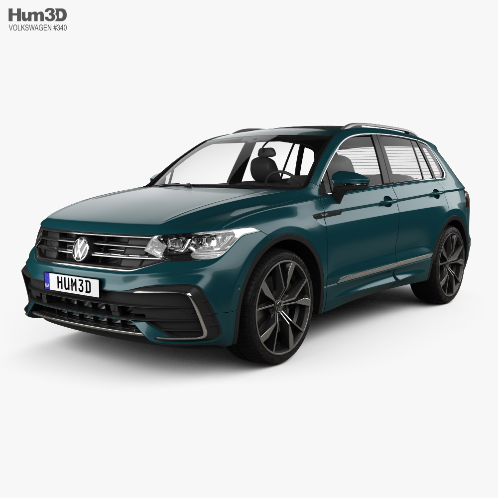 3D model of Volkswagen Tiguan R-Line 2020