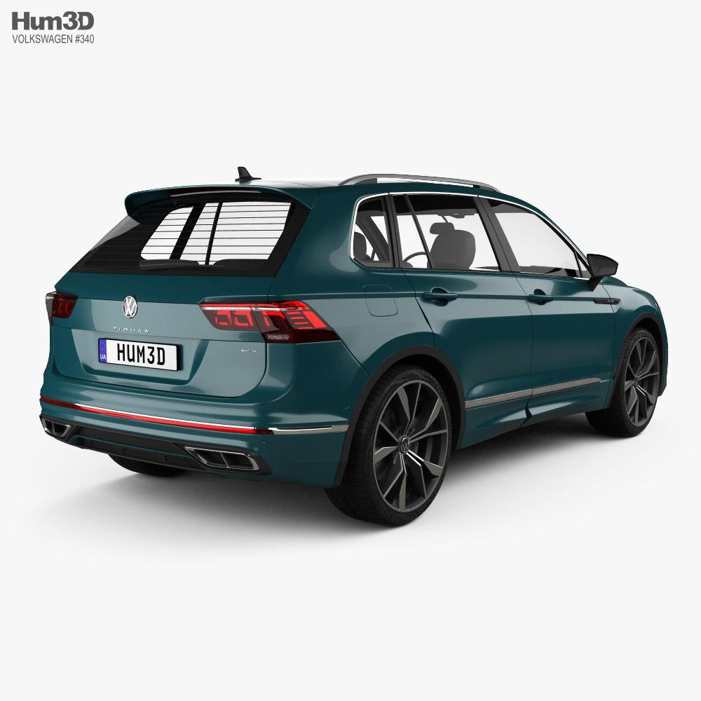 Volkswagen Tiguan R-Line 2020 3d model back view
