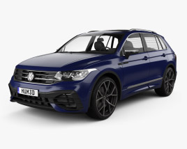 3D model of Volkswagen Tiguan 2021