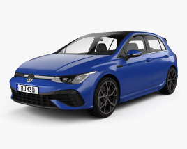 3D model of Volkswagen Golf R-Line 5-door hatchback 2022