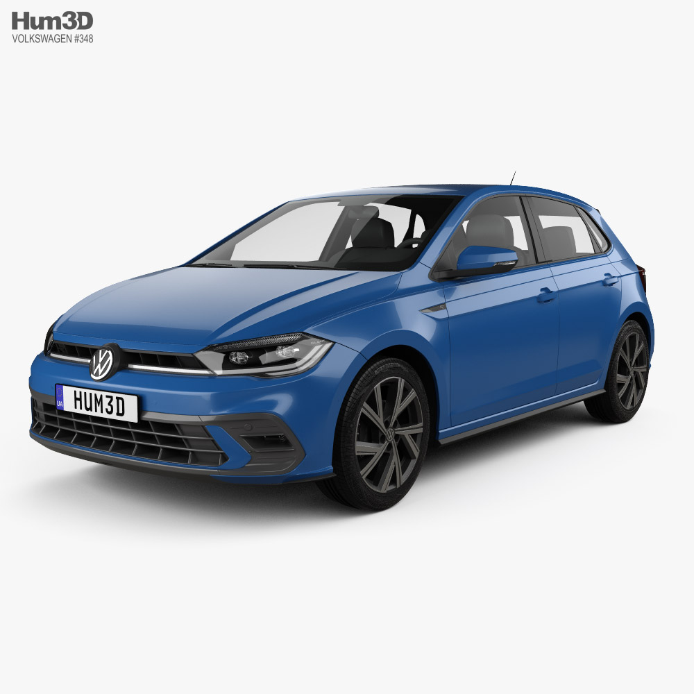 Volkswagen Polo R-Line 2021 3D model