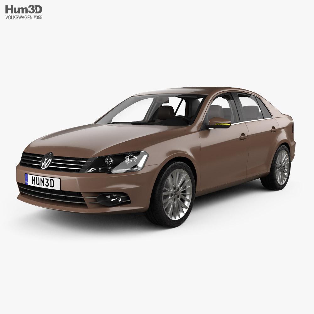 Volkswagen Bora with HQ interior 2012 3D model