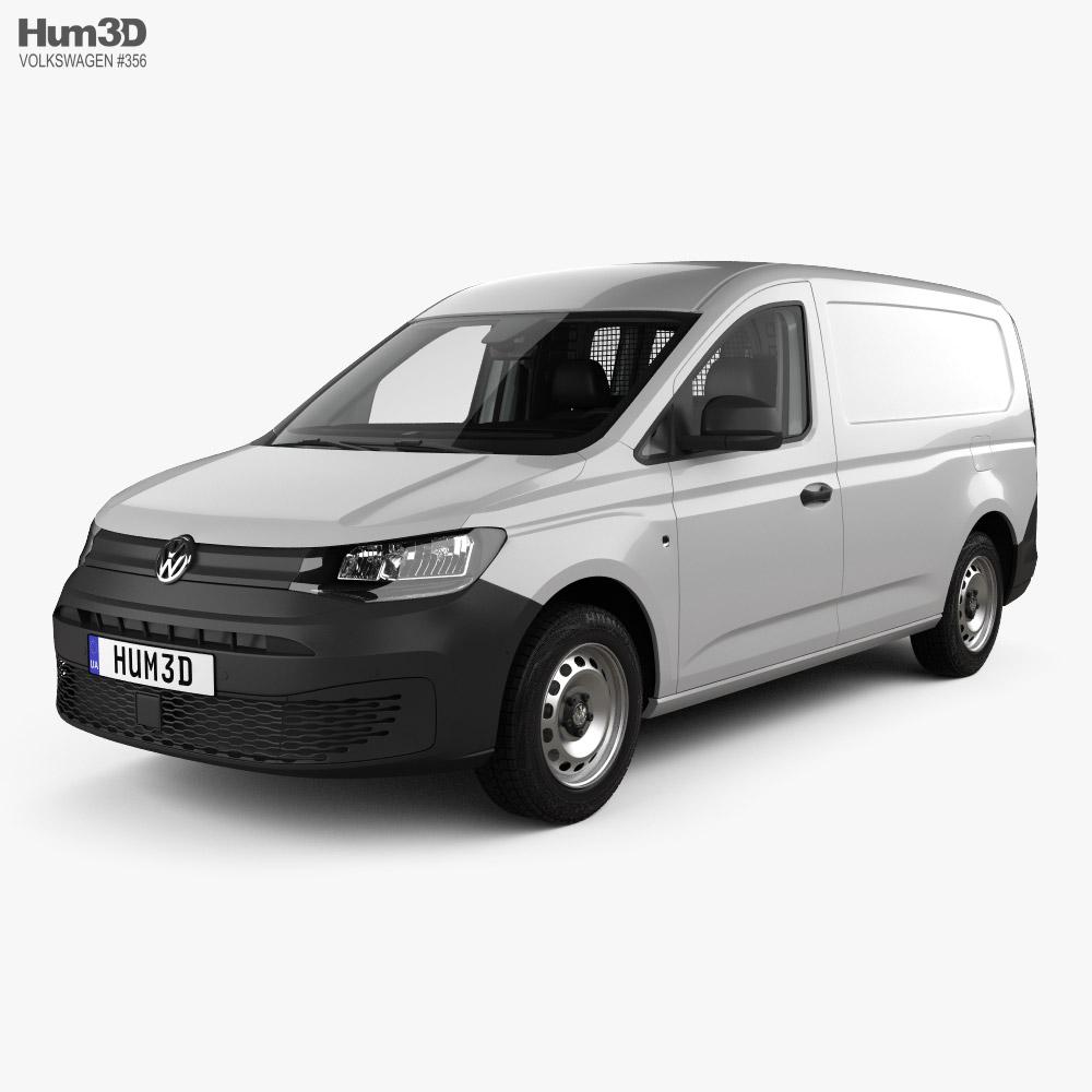 Volkswagen Caddy Maxi Panel Van with HQ interior 2020 3D model