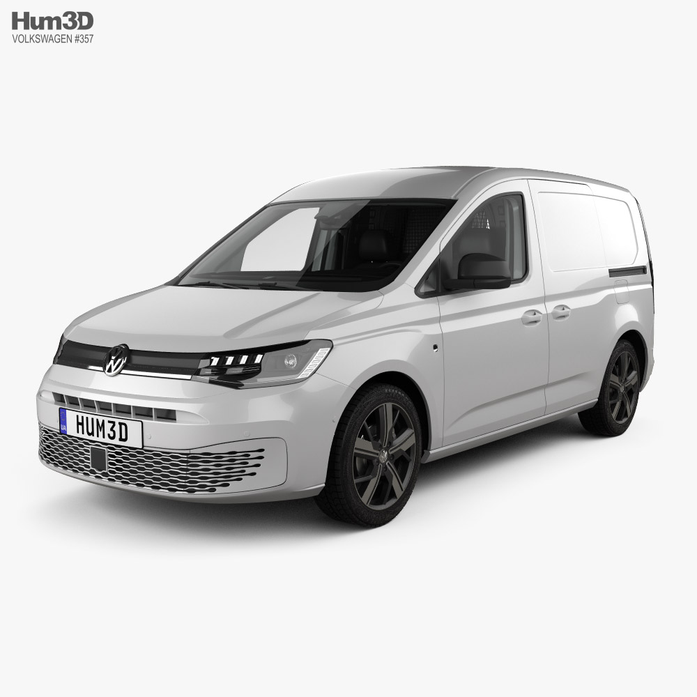 Volkswagen Caddy Panel Van with HQ interior 2020 3D model
