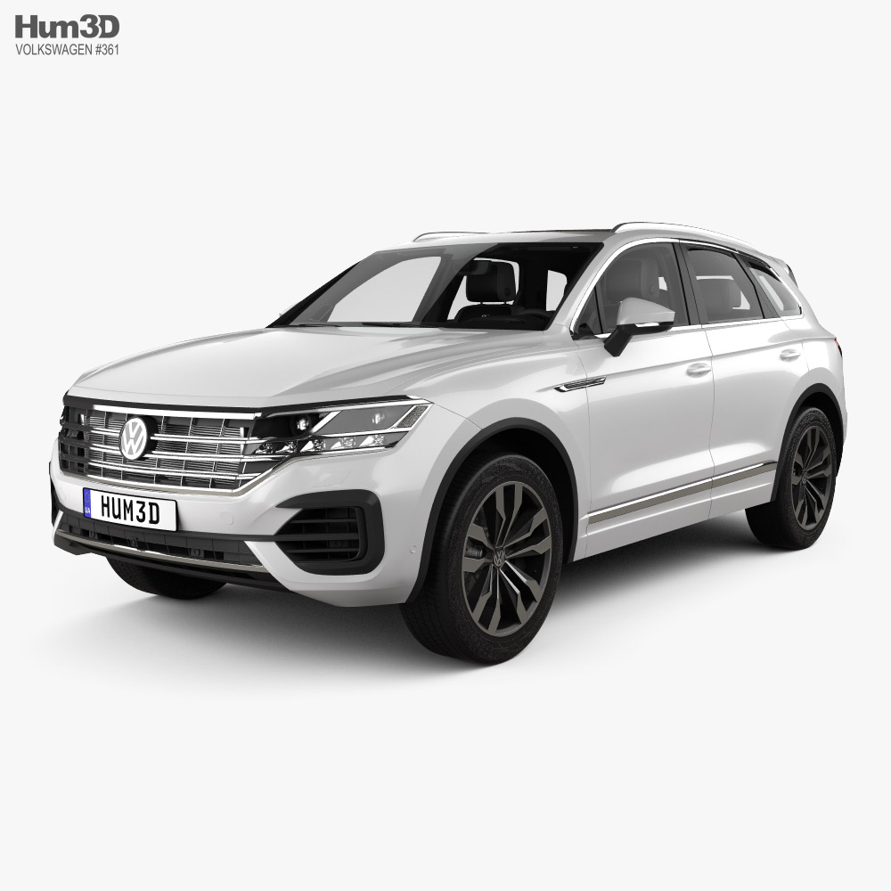 Volkswagen Touareg R-Line with HQ interior and engine 2018 3D model