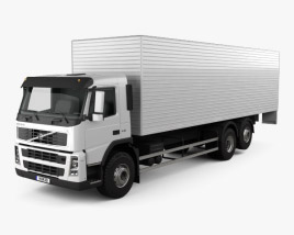 3D model of Volvo FM Truck 6x2 Delivery 2010