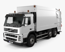 Volvo FM Truck 6×2 Camion della spazzatura 2010 Modello 3D