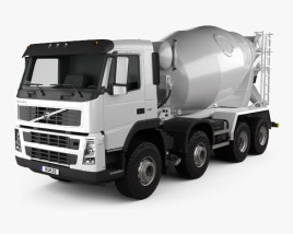 3D model of Volvo FM Truck 8×4 Mixer 2010