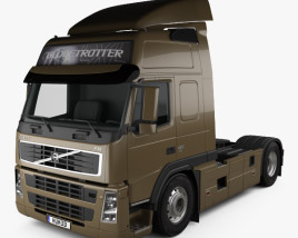 3D model of Volvo FM Tractor 2010