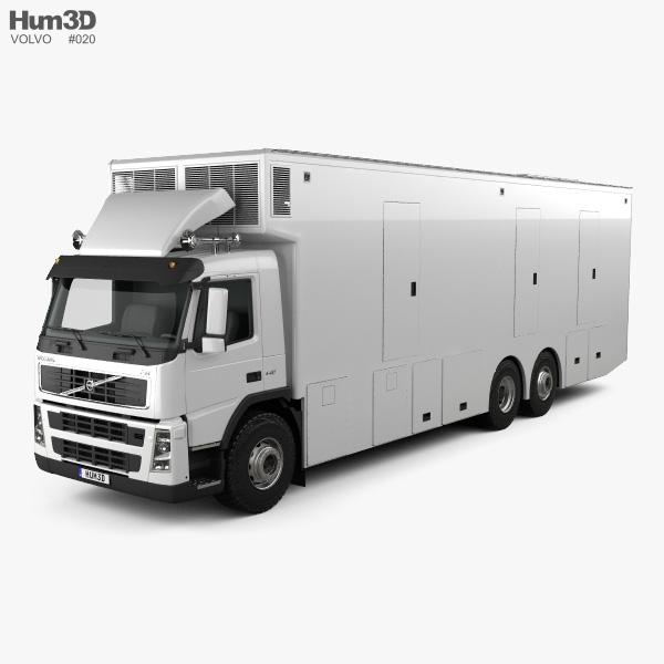 Volvo FM Outside Broadcast Truck 2010 3D model