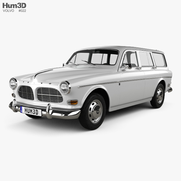 Volvo Amazon wagon 1961 3D model