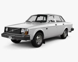 3D model of Volvo 244 sedan 1975