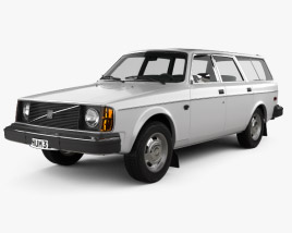 3D model of Volvo 245 wagon 1975