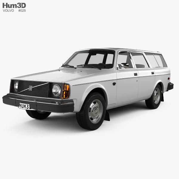 Volvo 245 wagon 1975 3D model