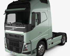 3D model of Volvo FH Tractor Truck 2012