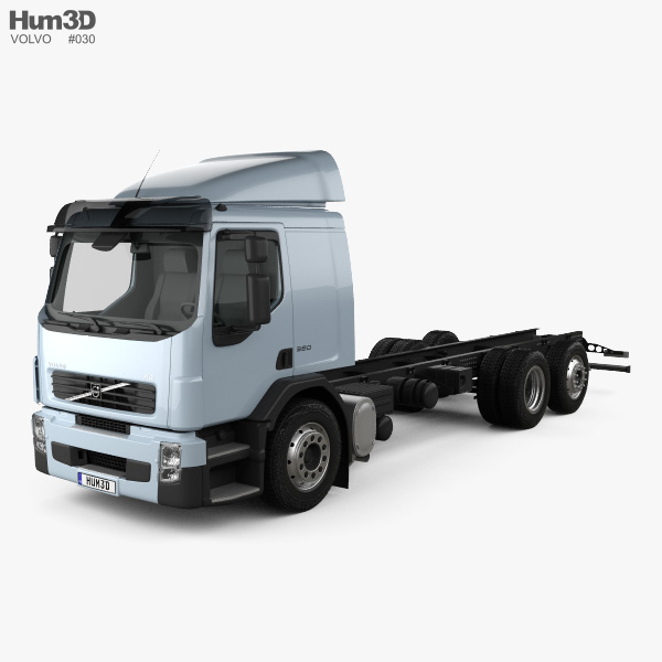 Volvo FE Chassis Truck 2006 3D model