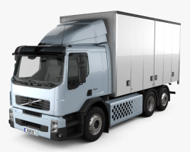 3D model of Volvo FE Hybrid Box Truck 2011