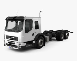 3D model of Volvo FE LEC Chassis Truck 2011