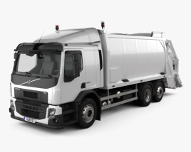 3D model of Volvo FE Rolloffcon Garbage Truck 2013