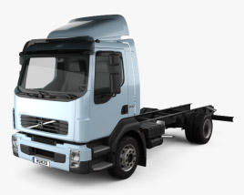 3D model of Volvo FL Chassis Truck 2006