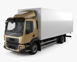3D model of Volvo FL Box Truck 2013