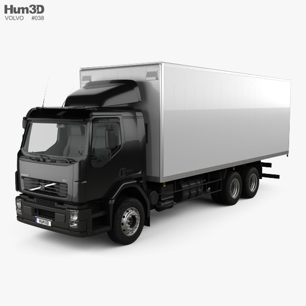 3D model of Volvo VM Box Truck 2003