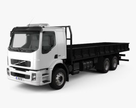 3D model of Volvo VM Flatbed Truck 2003