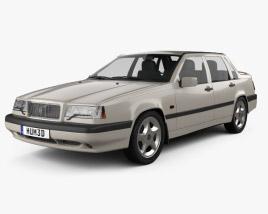 3D model of Volvo 850 sedan 1992