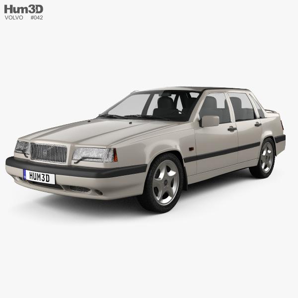 Volvo 850 sedan 1992 3D model