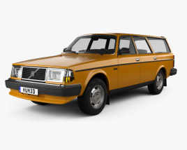3D model of Volvo 245 wagon 1979