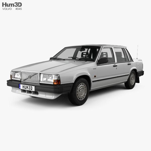 Volvo 744 sedan 1985 3D model