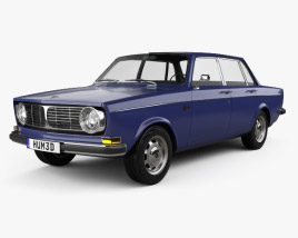 3D model of Volvo 144 sedan 1967